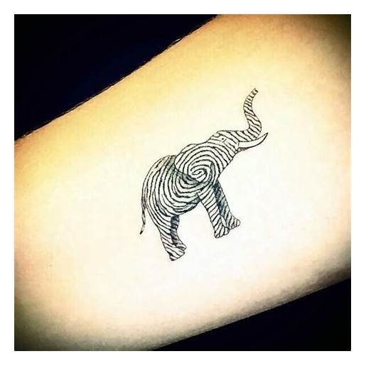 Elephant Drawing Tattoo