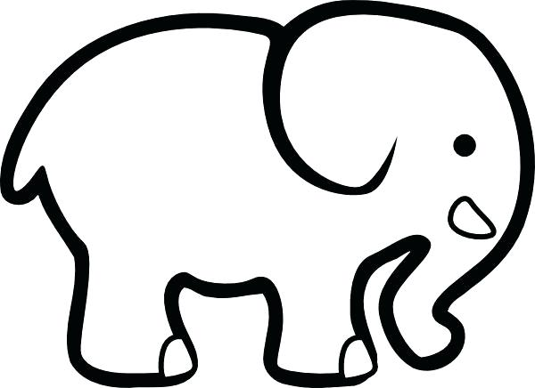 600x436 Elephant Outline Cutouts Google Search Preschool Letter