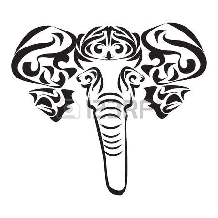 450x450 Latest Elephant Tattoo Designs