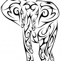 200x200 Elephant Tattoo Designs