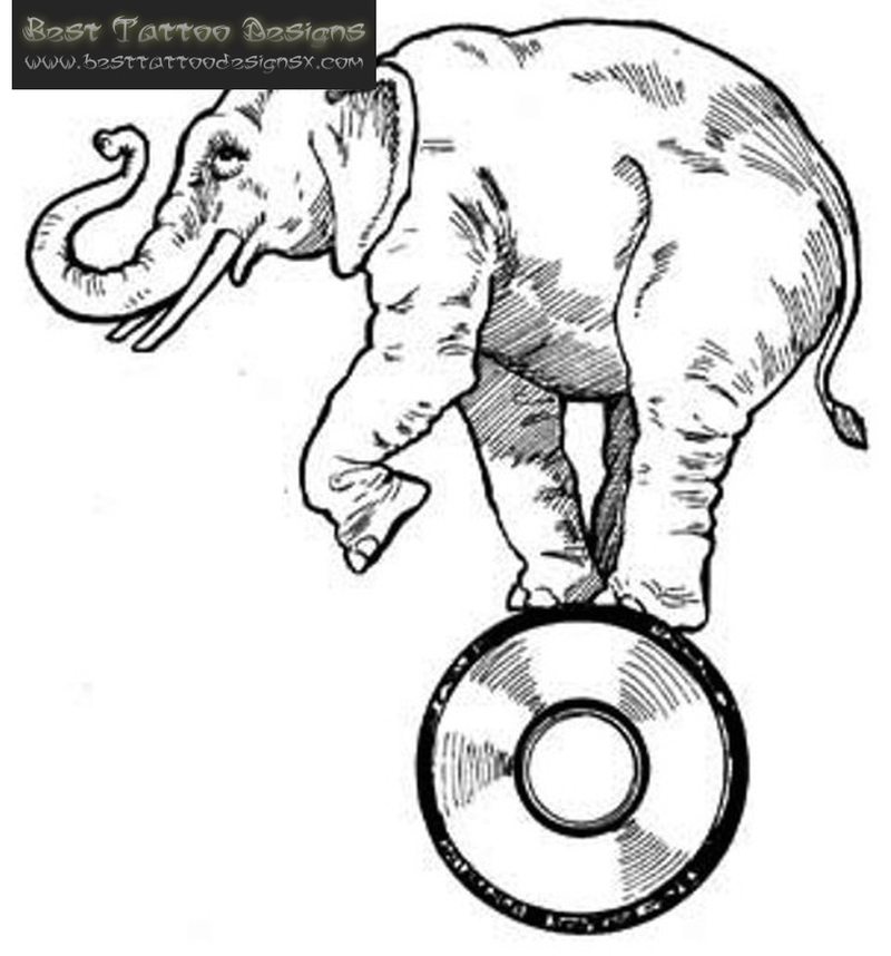 800x858 Elephant Tattoo Sample