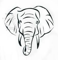 220x229 Image Result For Elephant Face Drawing Big Elephant Tattoo