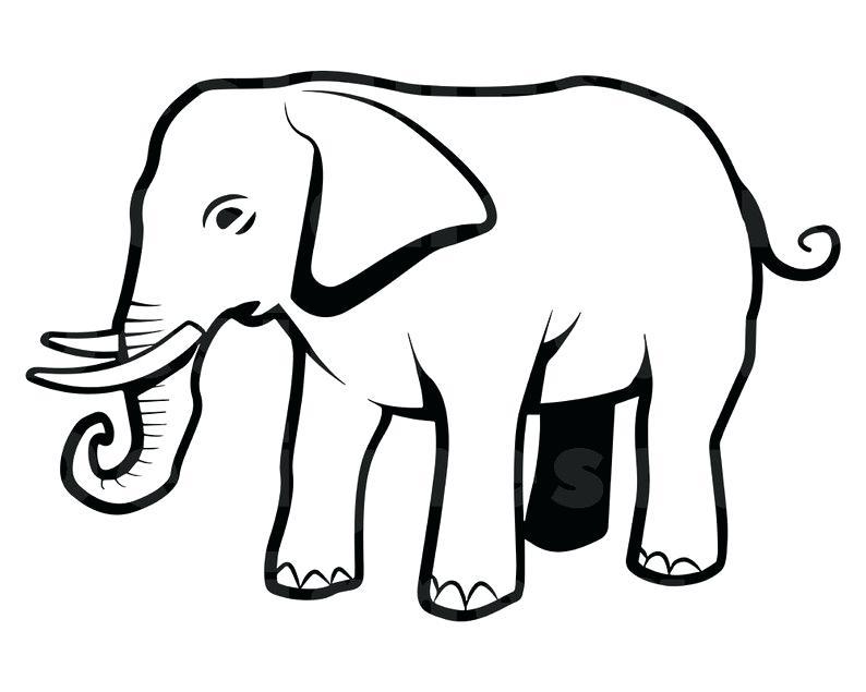 794x635 Outline Of A Elephant Cat Templates Animal Outlines Elephant Head