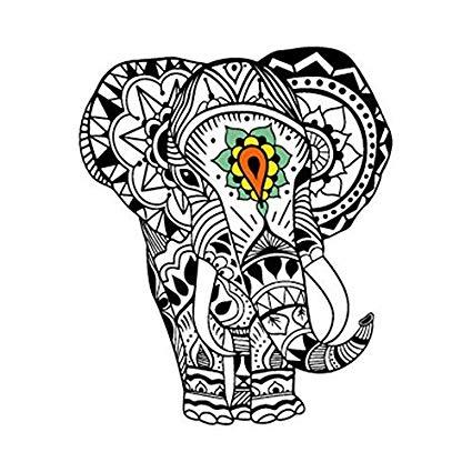 425x425 Yeeech Temporary Tattoo Sticker Animal Elephant Thailand God