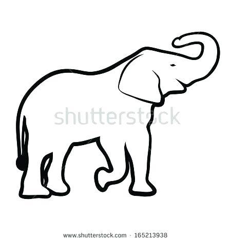 450x470 Outline Of Elephant