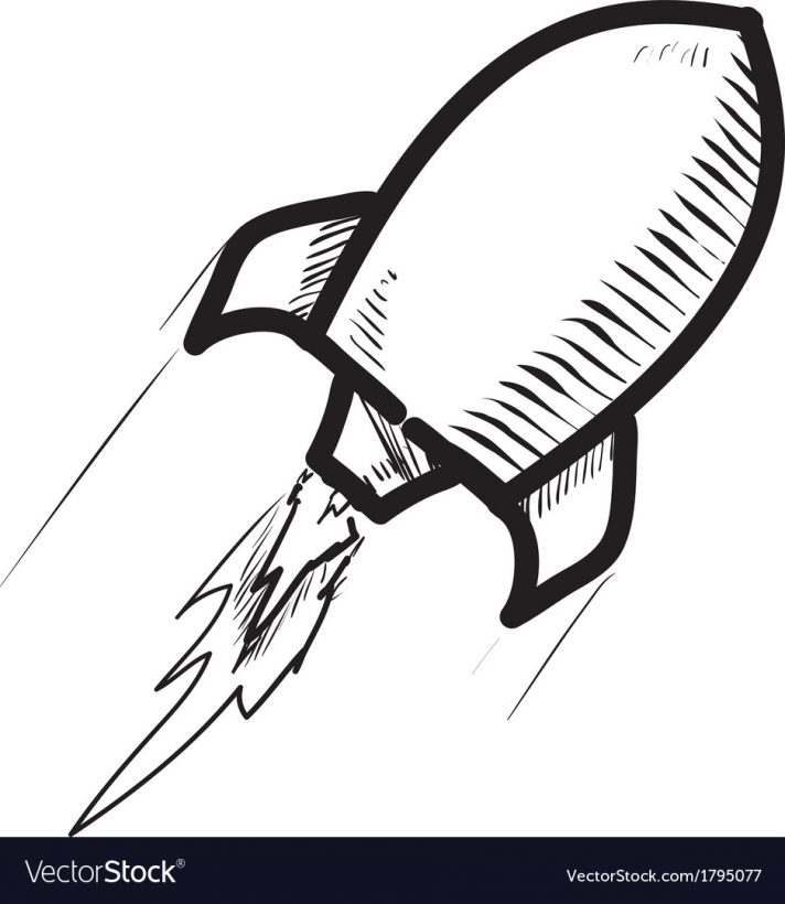 712x820 Cartoon Rocket Ship Taking Off Blast Pictures Black And White