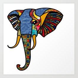 264x264 Elephant Head Art Prints