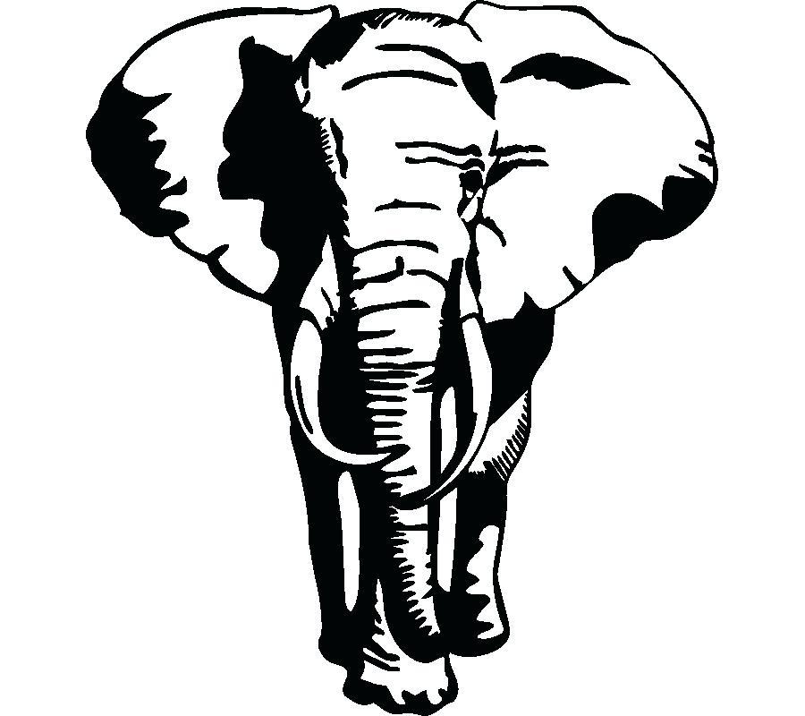900x800 Elephant Stencil For Wall Stencils Mural Plus Birch Tree
