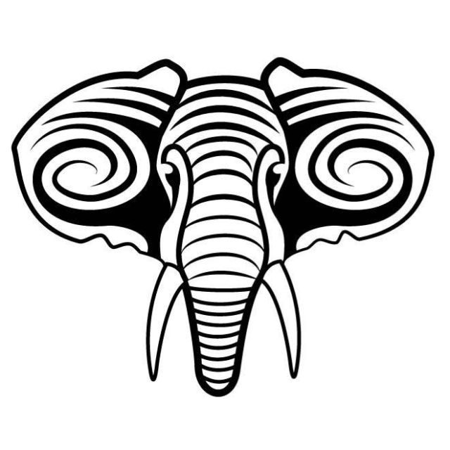 640x640 Elephant Tribal Face Front On Car Decal Sticker For Sale Online Ebay