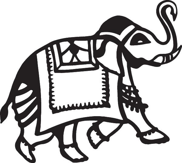 600x536 African Elephant Tribal Decal