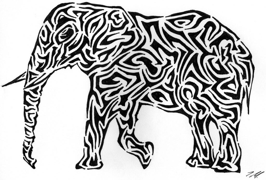 1024x694 Tribal Elephant So The Elephant Says That's Cute But