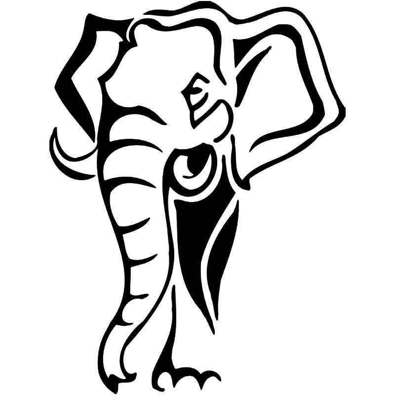 800x800 Tribal Elephant Vinyl Sticker