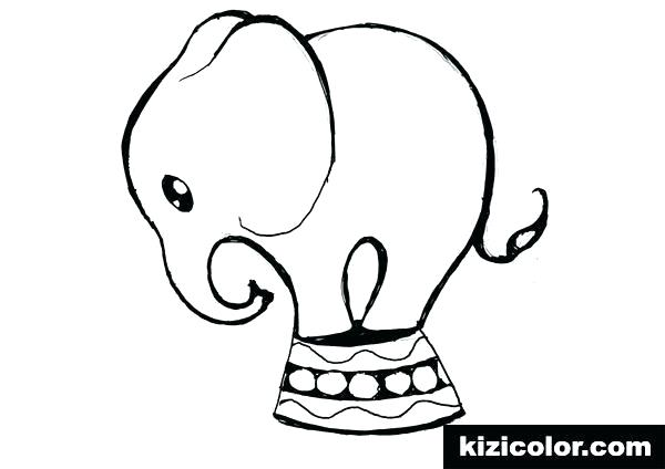 600x424 Elephant Drawing For Coloring