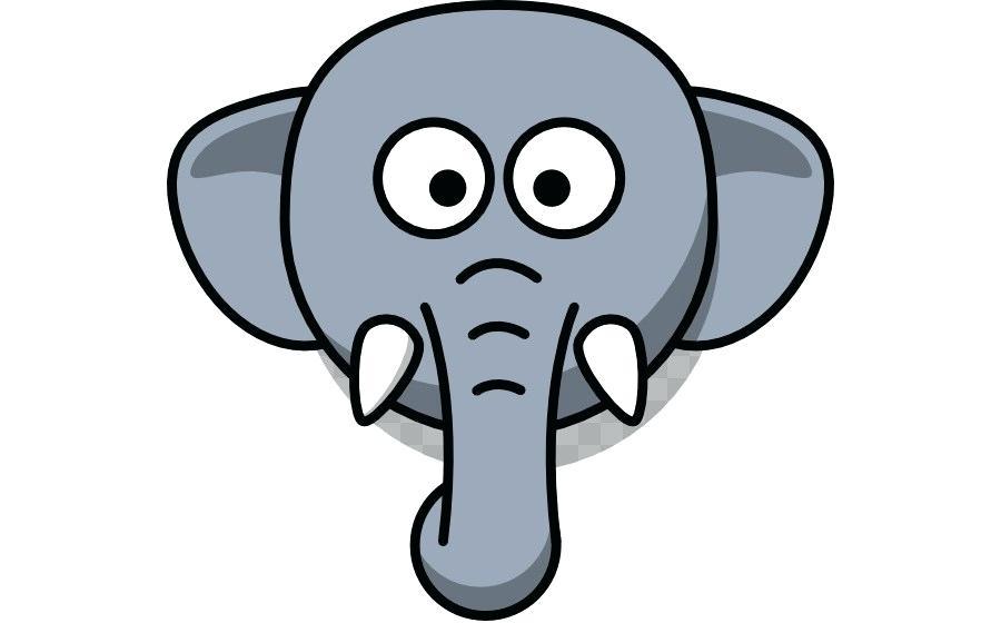 900x560 Elephant Head Drawing