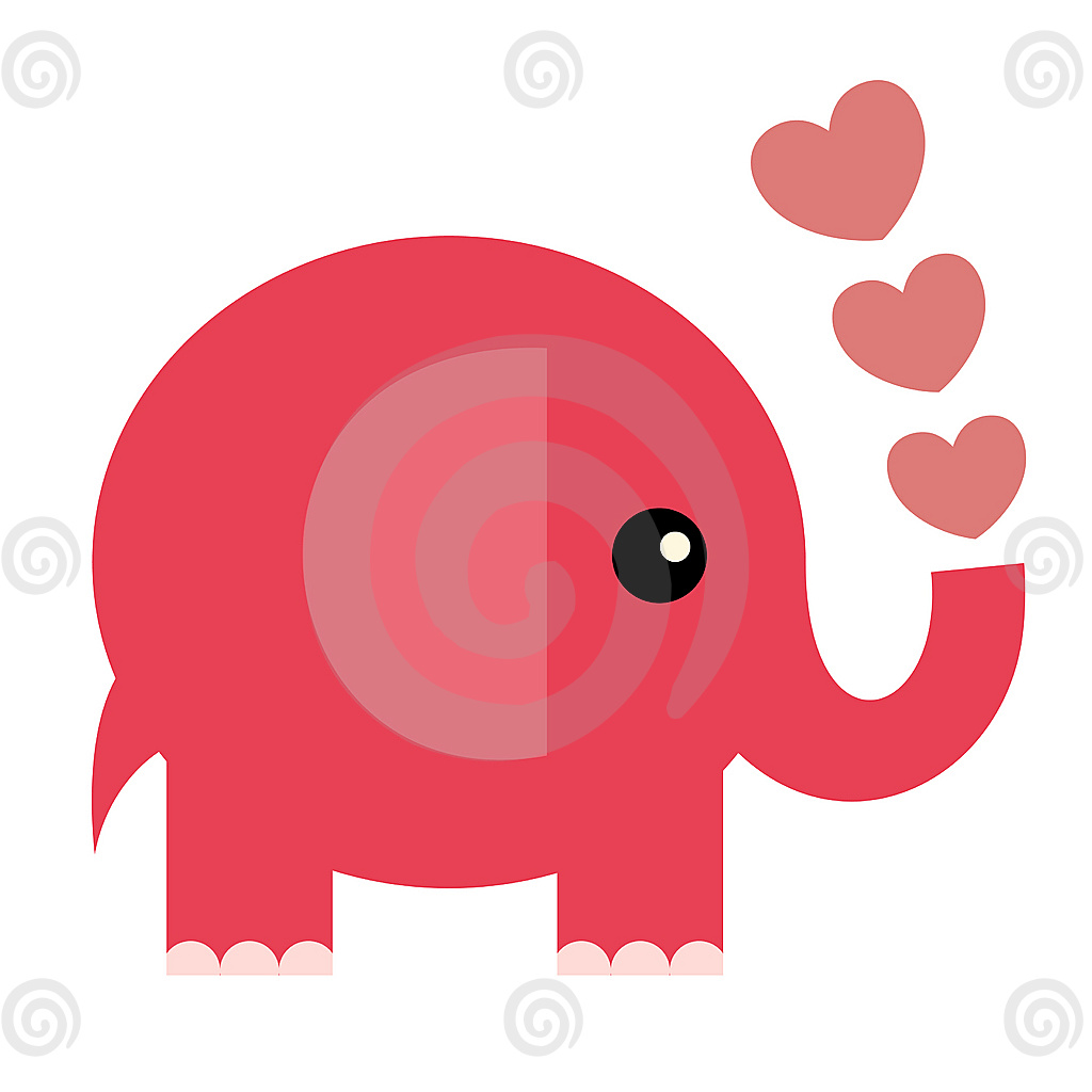 1024x1024 Cute Cartoon Elephant Wallpaper