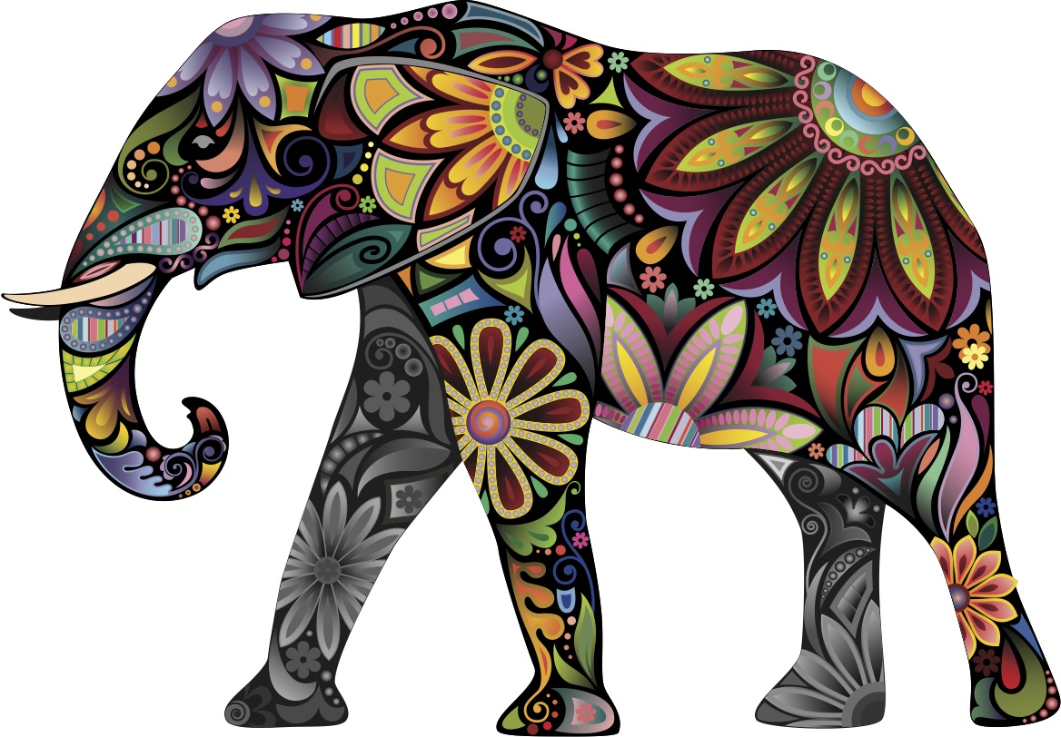 1168x812 Elephant Drawing Wallpaper