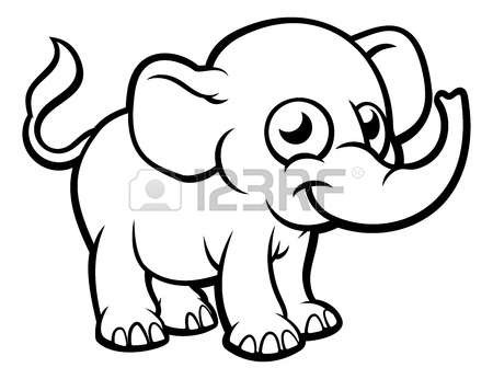 450x346 Elephant Outline Drawing Beach Clipart Beautiful Unicorn Head