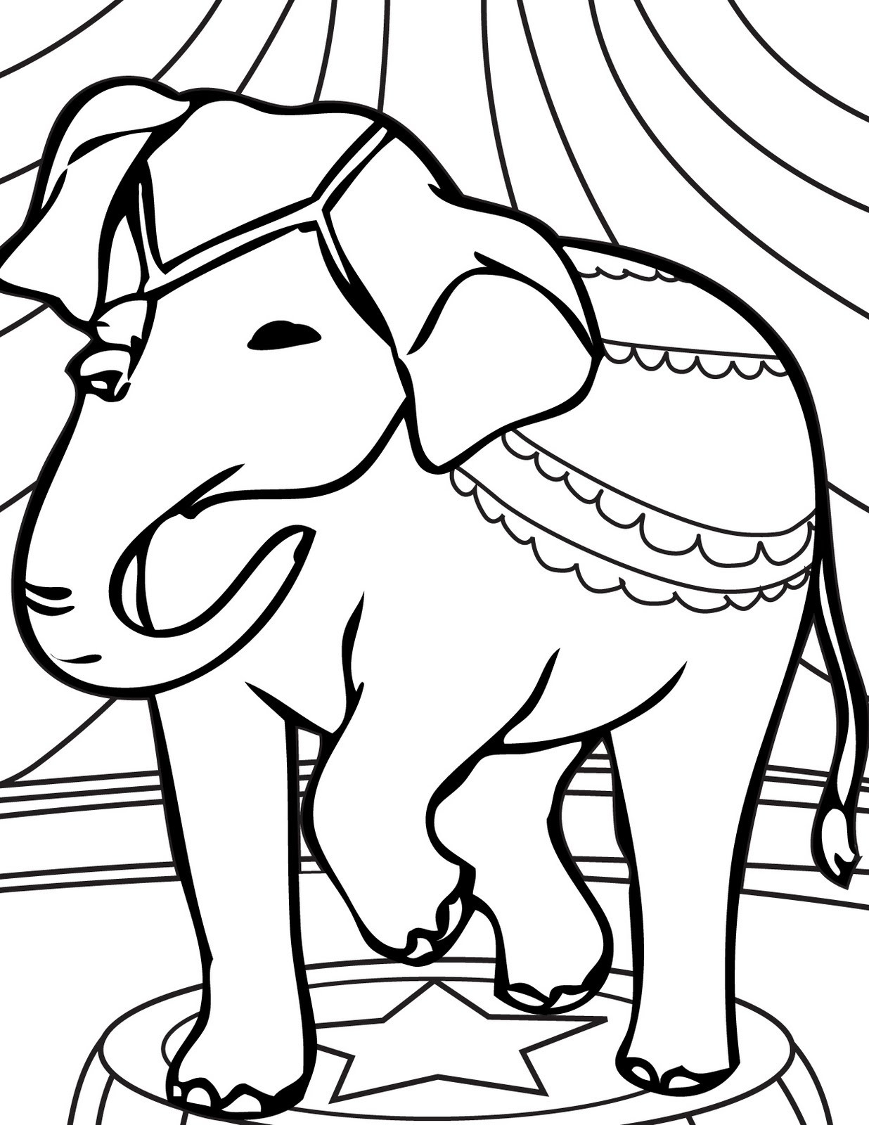 1236x1600 Lovely Circus Elephants Coloring Pages