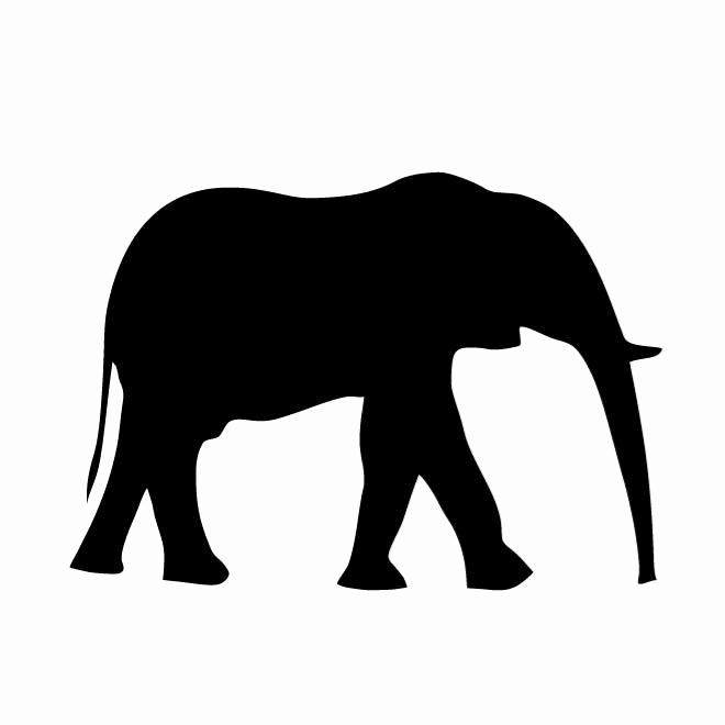 660x660 Elephant Clipart Trunk Up
