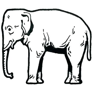 400x396 Elephant Drawing Outline Abstract Elephant Outline Drawing Picture