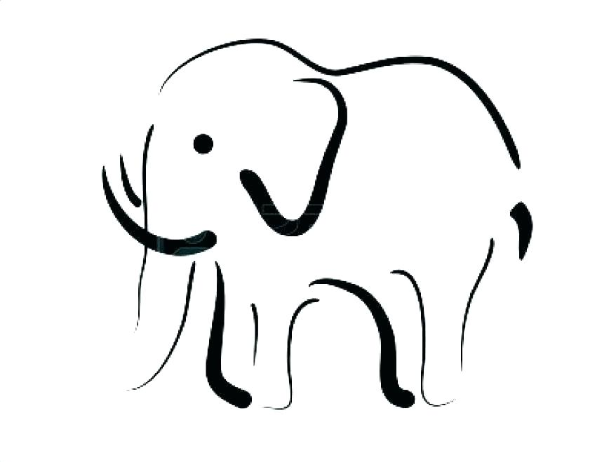 878x659 Elephant Drawing Outline How To Draw An Elephant Outline