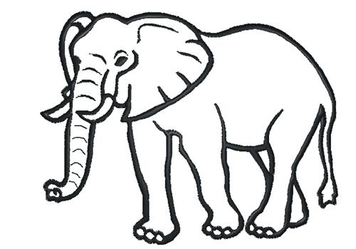 500x350 Elephant Outline Elephant Outline Illustration Outline Elephant