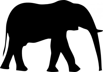 425x299 Elephant Clipart Outline Trunk Up Collection