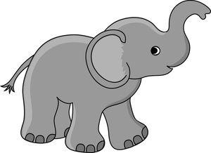 300x218 Free Baby Elephant Clip Art Image Cute Little Baby Elephant