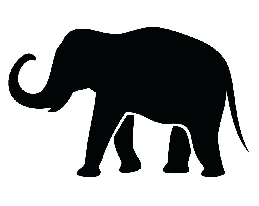 901x720 How To Draw An Elephant Outline Trunk Head Simple