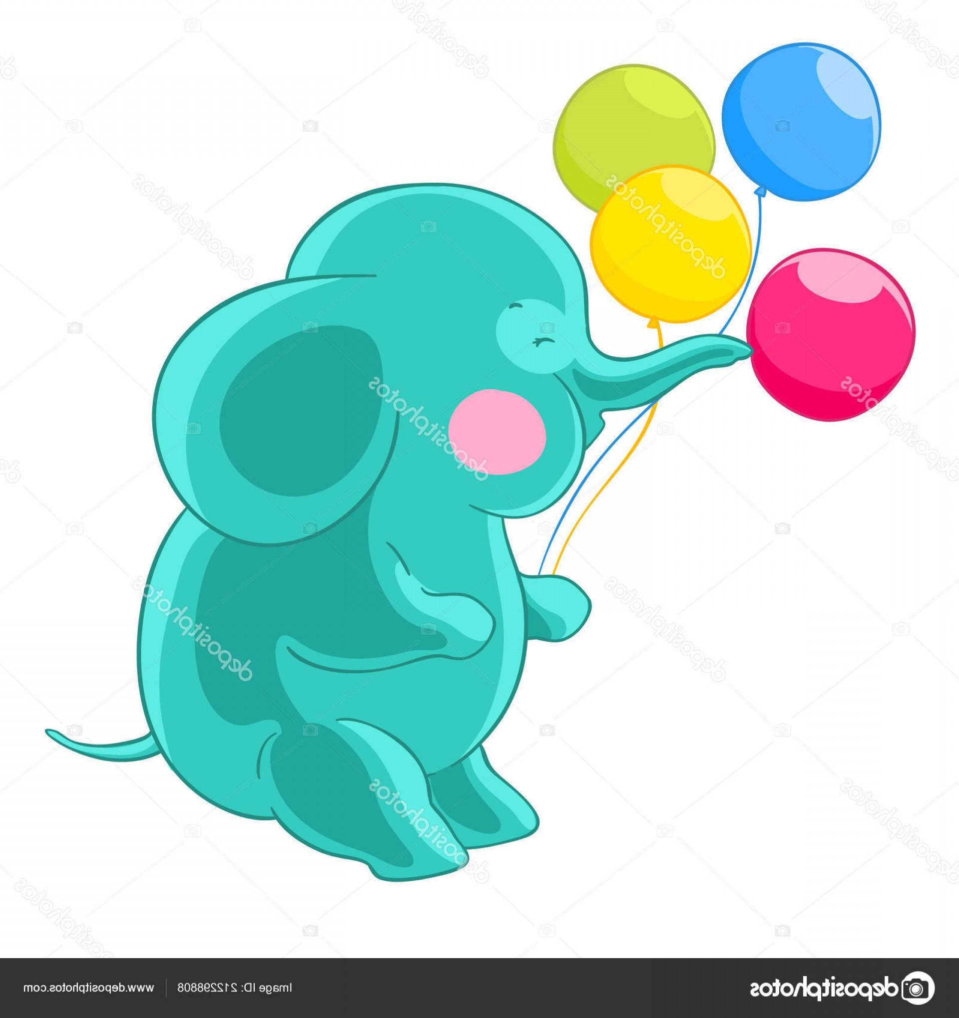 1920x2040 Stock Illustration Cartoon Green Cute Elephant Trunk Sohadacouri