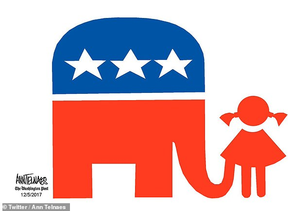 634x434 Texas Police Confiscate Handmade Yard Sign Showing A Gop Elephant