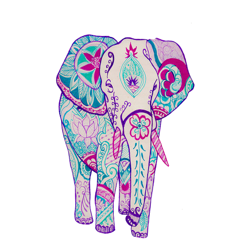 500x500 Collection Of Free Transparent Elephant Boho Download On Ui Ex