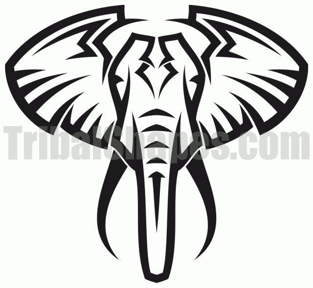 640x589 Tribal Elephant Tumblr Head, Elephant Tattoo On The Ankle
