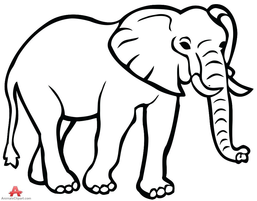 999x782 Free Elephant Outline Download Clip Art Drawing Face Clipart
