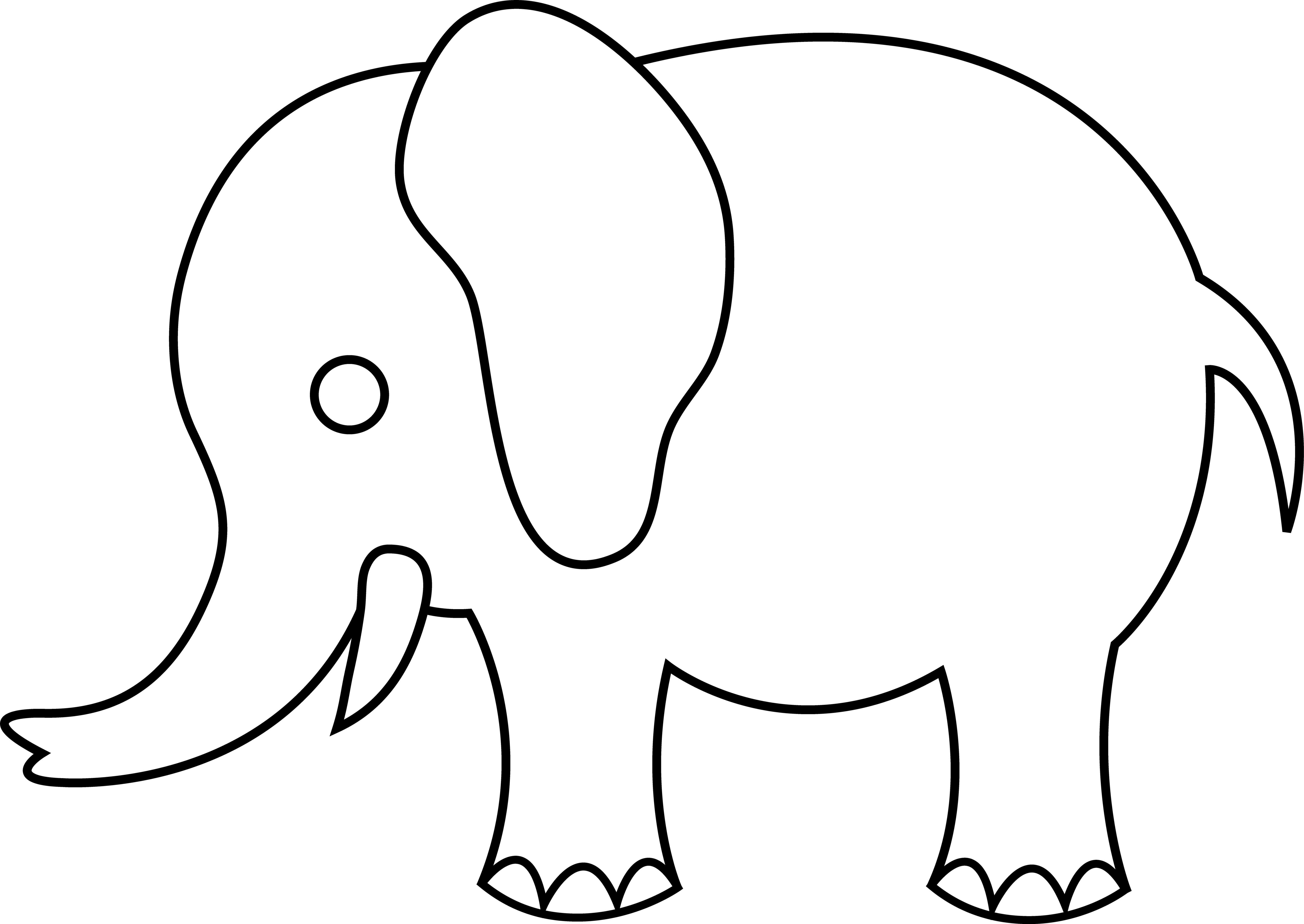5828x4129 Drawing Line Elephant Huge Freebie! Download For Powerpoint