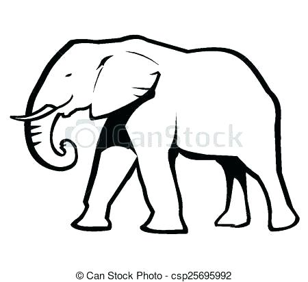 450x412 How Elephant Outline Template Indian Drawing At Free For Personal