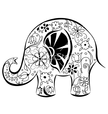 380x400 Indian Elephant Drawing