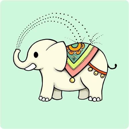 450x450 Indian Elephant Drawings