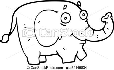 450x278 Line Drawing Cartoon Funny Elephant