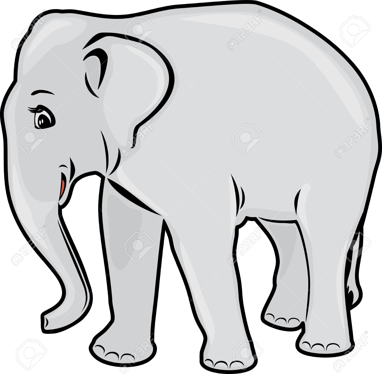 1300x1274 Outline Of An Elephant Elephant Drawing Royalty Free Cliparts