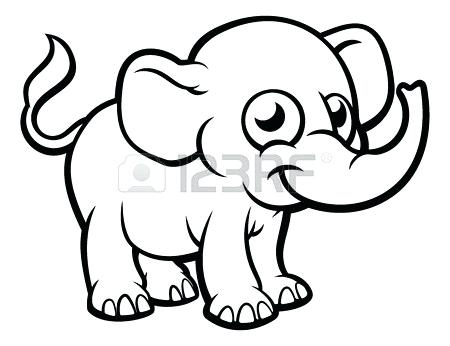 450x346 Outline Of A Elephant