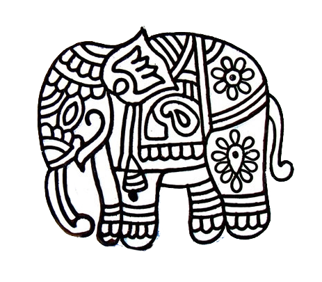 463x405 Collection Of Free Elephants Drawing Hindu Download On Ui Ex