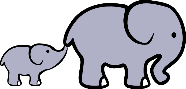Elephant Outline Drawing
