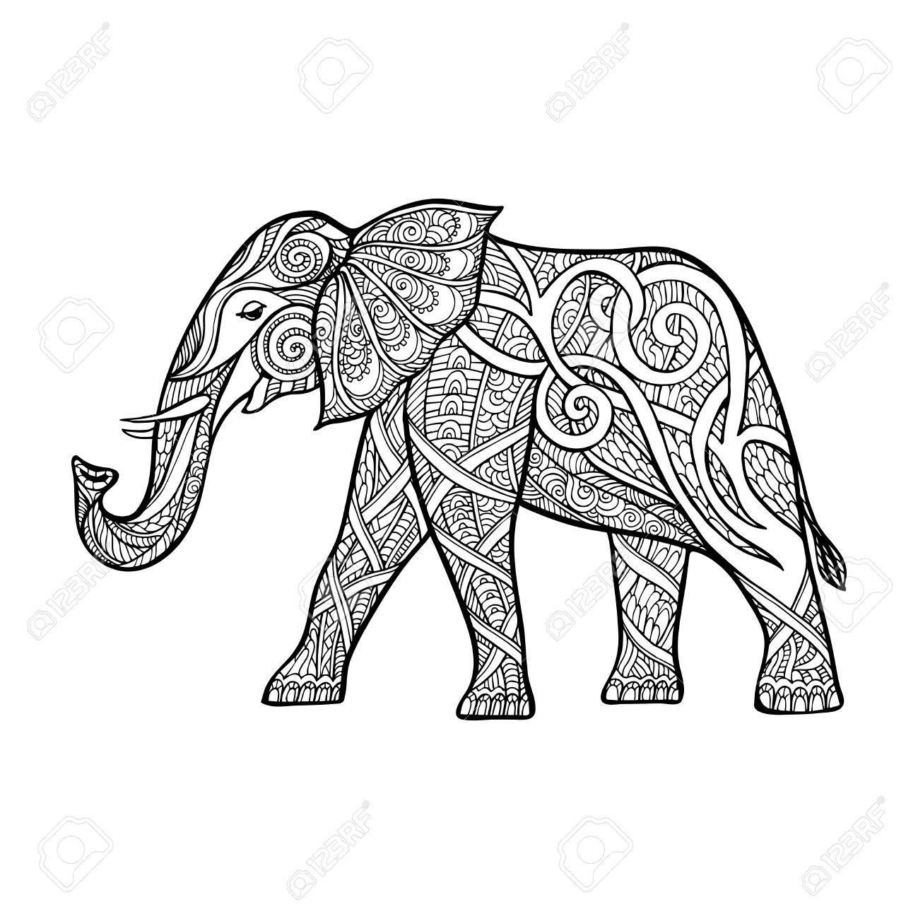 1299x1300 Elephant Outline