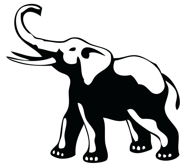 736x661 Elephant Outline Clip Clip Art Free Clip Art Clip Art Elephant