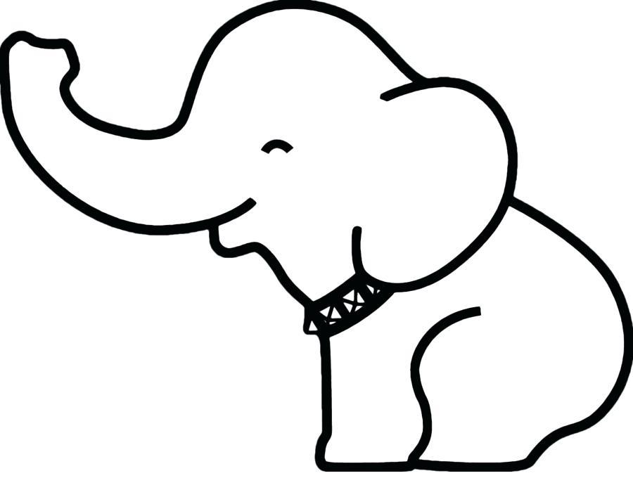 900x680 Elephant Outline Elephant Outline Clip Art Elephant Drawing