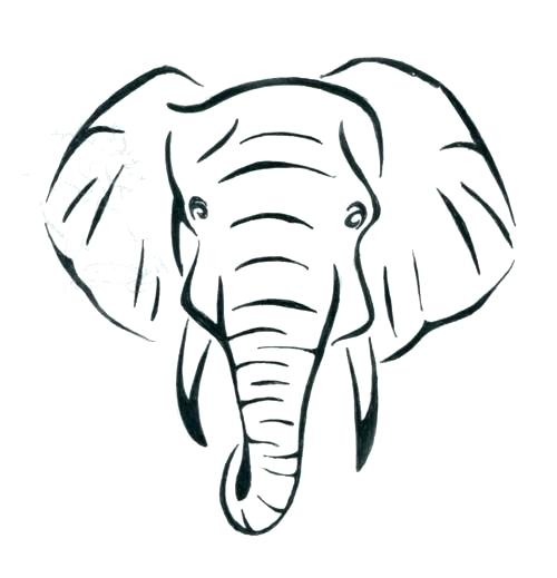 500x519 Free Elephant Outline Download Clip Art Drawing Face Clipart
