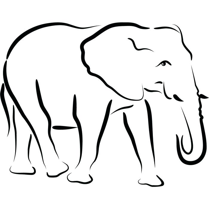 700x700 Free Elephant Outline Download Free Clip Art Free Clip Art