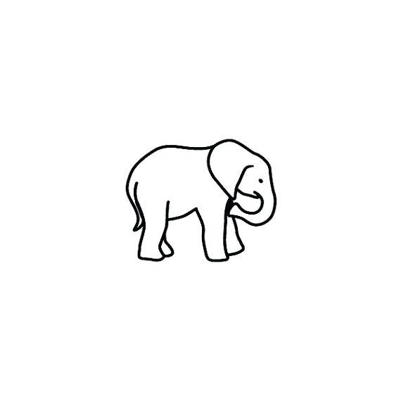570x570 Outline Elephant Elephant Outline Drawing Face