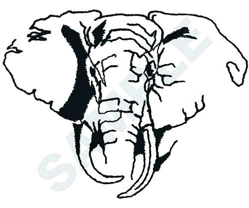 500x417 Outline Of An Elephant Outline Of A Elephant Elephant Outline